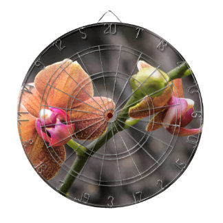 Orange Orchid Dartboard