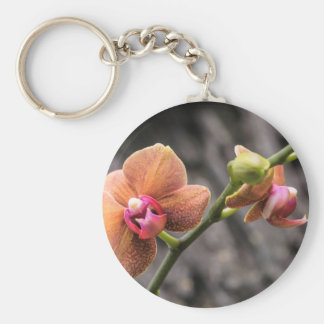 Orange Orchid Key Ring