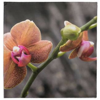 Orange Orchid Napkin