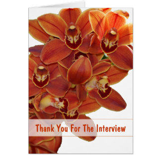 Orange Orchids Interview Thank You Cards