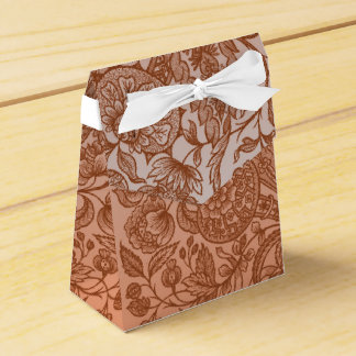 orange ornaments favour box