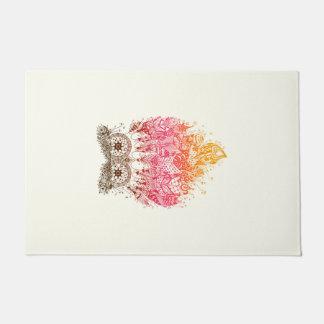 Orange Owl Dream to catcher Doormat