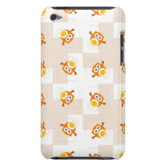 Orange Owl Illustration Pattern Barely There iPod Case