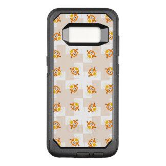 Orange Owl Illustration Pattern OtterBox Commuter Samsung Galaxy S8 Case