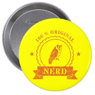 Orange Owl Stamp Button