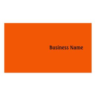 Orange Pack Of Standard Business Cards