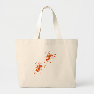 Orange paint splash bag