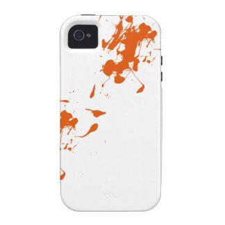 Orange paint splash Case-Mate iPhone 4 case