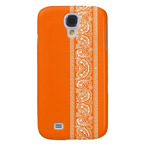 Orange Paisley Bandana iPhone 3 Case