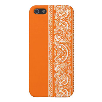 Orange Paisley Bandana iPhone 4 Case