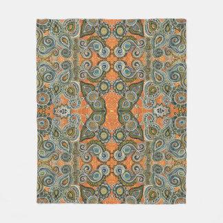 orange paisley blanket