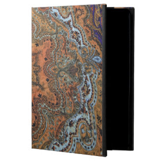 Orange Paisley iPad Air Case w/ No Kickstand