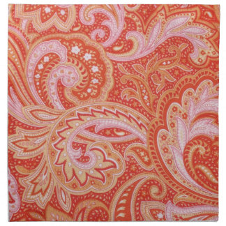 Orange Paisley Napkin