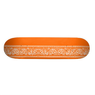 Orange Paisley Skateboard Pro