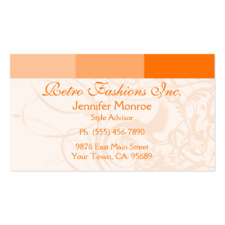 Orange Palette 2 Style Personal Business Cards