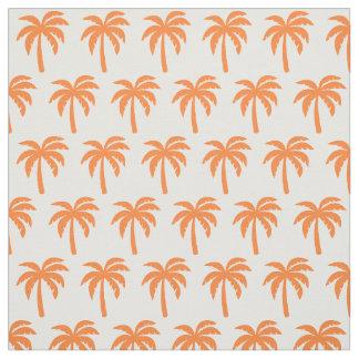 Orange Palm Tree Fabric