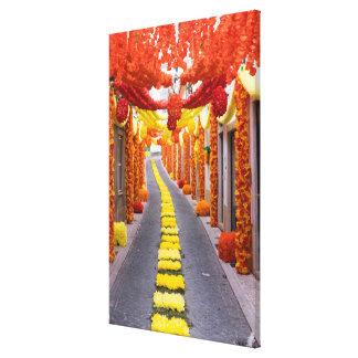 Orange Paper Décor For Festival Canvas Print