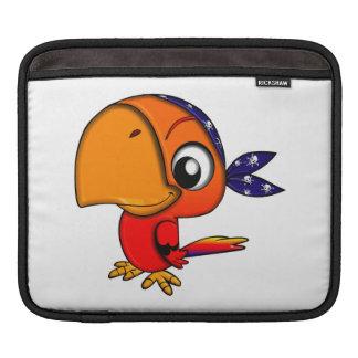 Orange parrot cartoon sleeve for iPads