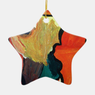 Orange Parrot Christmas Tree Ornaments