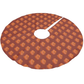 Orange Party Suppiies Brushed Polyester Tree Skirt