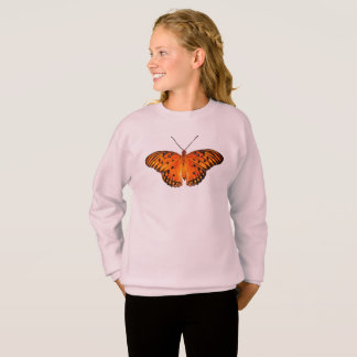 Orange passion butterfly sweatshirt