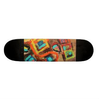 Orange Path Skateboard