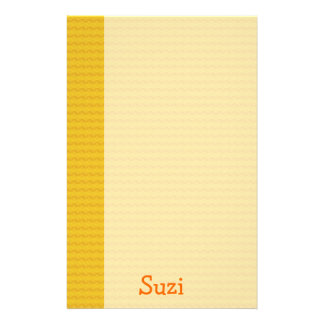 Orange pattern paper with name - Stationery