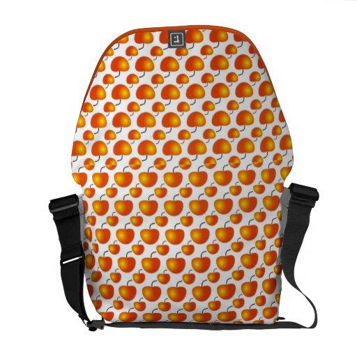 Orange Pattern Rickshaw Messenger Bag