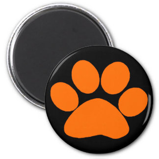 Orange Paw Print Magnet