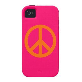 Orange Peace Sign Case-Mate iPhone 4 Cases