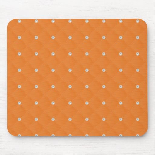 Orange Pearl Stud Quilted Mouse Pads