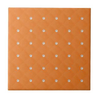 Orange Pearl Stud Quilted Ceramic Tiles