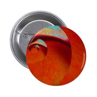 Orange Peel Against Blue Sky Pinback Button