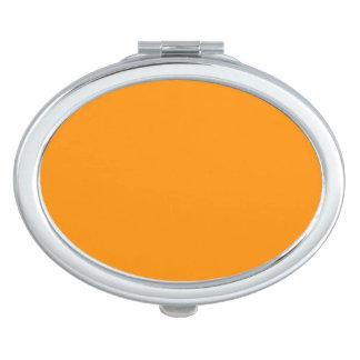ORANGE PEEL (solid fruity color) ~ Travel Mirrors