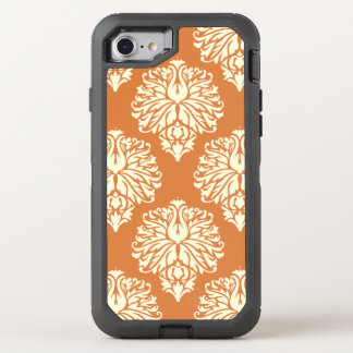 Orange Peel Southern Cottage Damask OtterBox Defender iPhone 8/7 Case