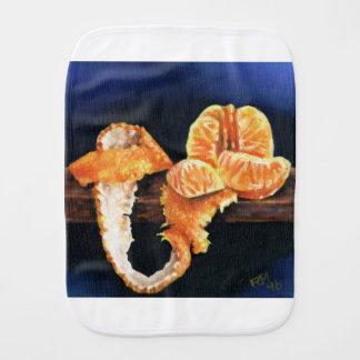 Orange, Peeled Burp Cloth