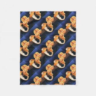 Orange, Peeled Fleece Blanket