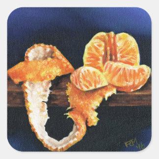 Orange, Peeled Square Sticker