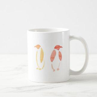 Orange Penguins Coffee Mug