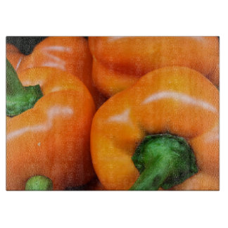 Orange pepper cutting board