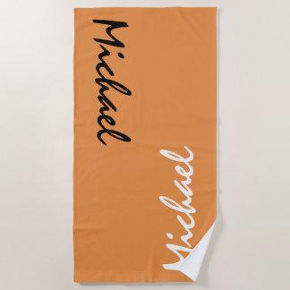Orange Personalized Beach Towel