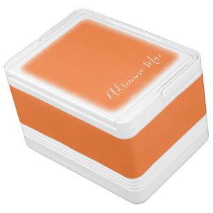 Orange Personalized Cooler