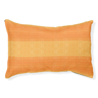 orange pet bed