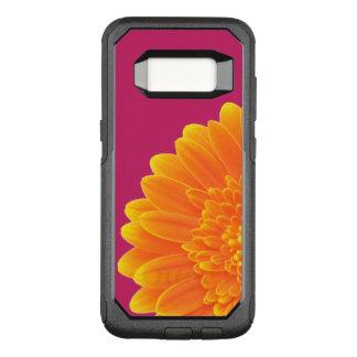 orange petals OtterBox commuter samsung galaxy s8 case