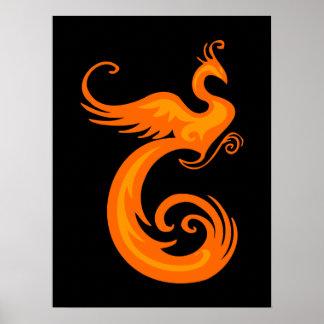 Orange Phoenix Poster