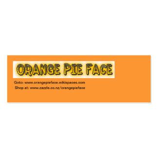 Orange Pie Face Business card
