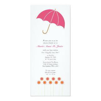 orange & pink daisy BRIDAL SHOWER invitation