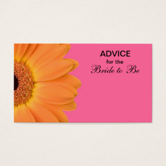 Orange & Pink Gerber Daisy Advice for the Bride
