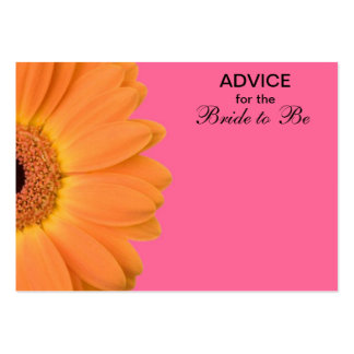 Orange & Pink Gerber Daisy Advice for the Bride Pack Of Chubby Business Cards