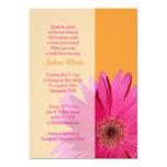 Orange Pink Gerbera Daisy Bridal Shower Invitation